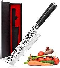 Nakiri Knife - imarku Nakiri Chef Knife 7 Inch High Carbon German Stainless Steel Nakiri Vegetable Knife, Multipurpose Asian Nakiri Vegetable Knife for Kitchen with Ergonomic Handle