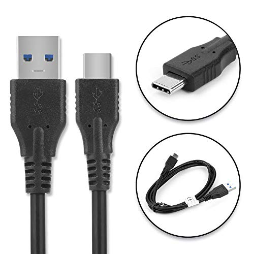 subtel® USB Kabel 1,0m compatibel met EasySMX Nintendo Switch Controller/ESM-9110 Oplaadkabel USB C Type C naar USB A 3.0 Datakabel 3Azwart PVC