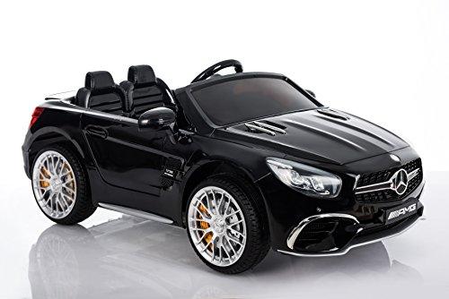 RC Auto kaufen Kinderauto Bild 4: Kinderelektroauto - Mercedes SL 65 AMG - 2 Motoren - Kinderfahrzeug Lizenz Fernbedienung -Schwarz*