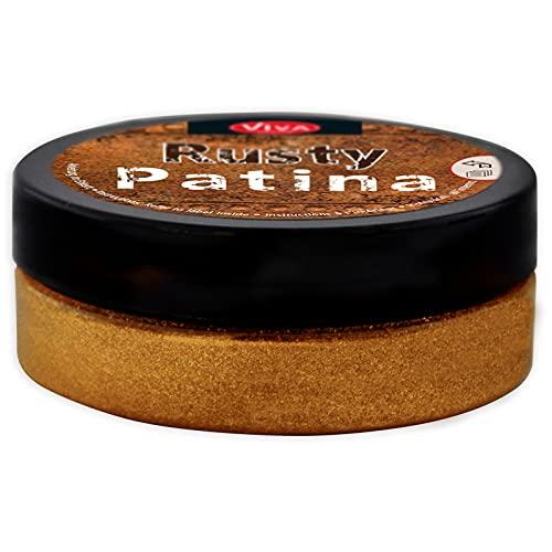 Viva Decor® Rusty Patina (Oxid-Braun, 50ml) Rost Effekt Acrylfarbe, Patina für Deko im Industrial Design, Rost Effekt Farbe, Rostoptik - Made in Germany