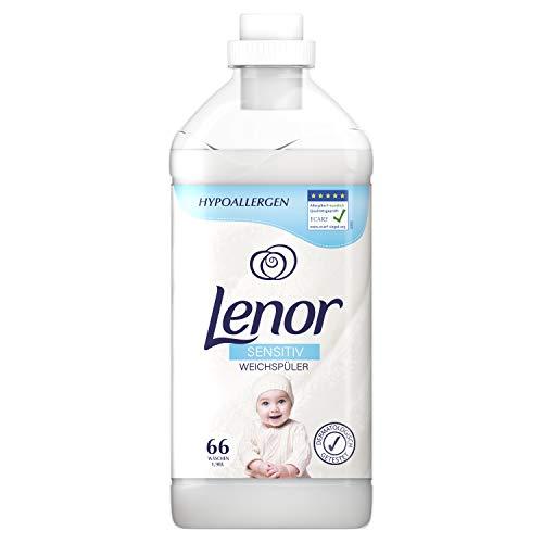 Lenor Weichspüler, Flauschige Wäsche, Sensitiv für sensible Haut und Babyhaut, 66 Waschladungen (1.98 L)