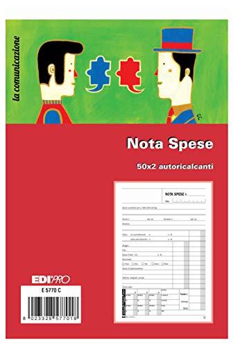EDIPRO Libretto di giustificazione 40 fogli f.to 17x9,9 E567540