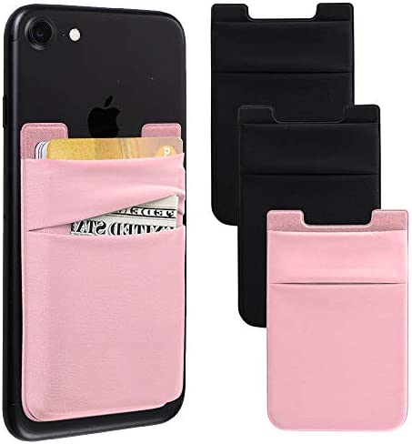 Phone Card Holder for Back of Phone Stretchy Lycra Wallet Stick On Pocket Credit Card ID Case product image