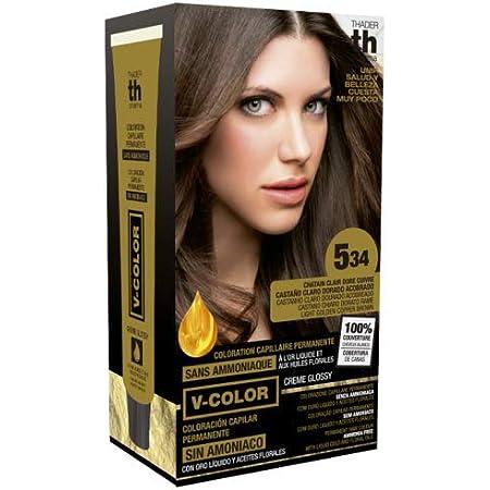 Thader Th Pharma V Color Kit Tinte Nº 5.34 Sin Amoniaco Con Oro Líquido