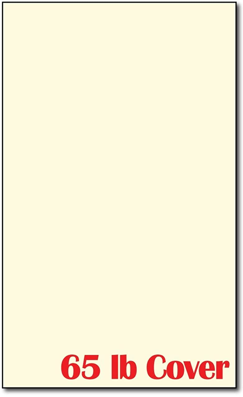 Cream 65lb Cardstock - 100 Sheets - 8 1/2 X 14 Legal Size - Great for Menus!