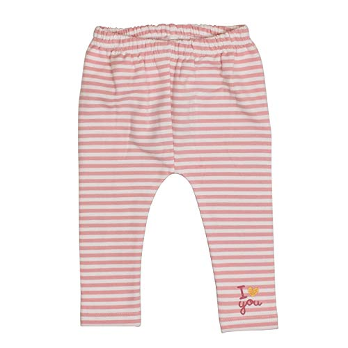 Salt & Pepper Baby-Mädchen Lovely I Love You Foliendruck Leggings, Rosa (Dusty Pink 824), (Herstellergröße: 80)