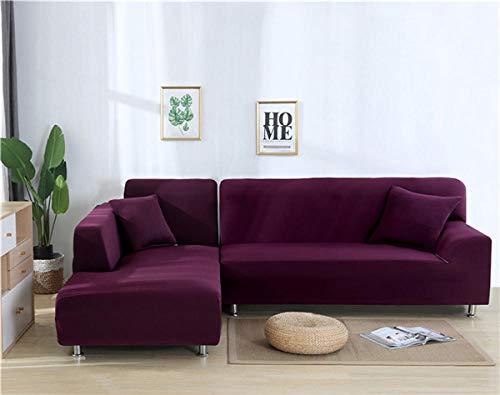 cojines de sofá de alta elasticidad,Funda elástica para sofá, funda para sofá de sala de estar, funda para asiento de sofá, funda para sofá de esquina, funda protectora para muebles, rojo púrpura_2