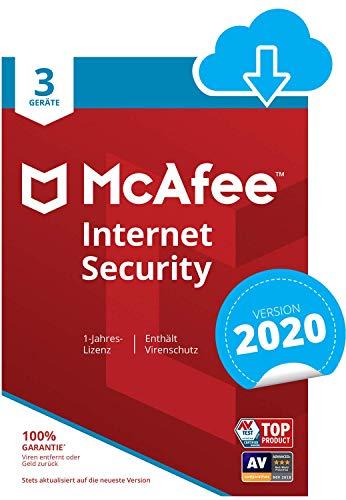 McAfee Internet Security 2020 | 3 Geräte | 1 Jahr | PC/Mac/Smartphone/Tablet | Download Code