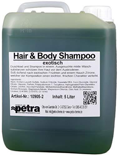 Hair & Body Shampoo exotisch 2x5 Liter Kanister (grün) - Qualität aus Thüringen (Artikelnummer 10905-2, Duschgel und Shampoo in einem)