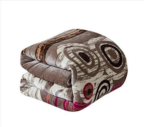 Foren Tex Manta para sofá y Cama con Borrego (L-3092) 600GMS Sin Pelusas No Suelta Pelo Tacto Suave y Cálida Dispone Varios Tamaños y Colores