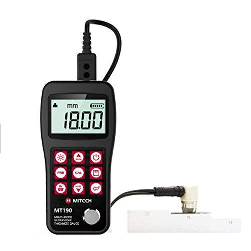 ZJN-JN MT190 Muti mode ultrasons Jauge d'épaisseur multi par revêtement d'épaisseur à ultrasons Gauge (3-60) mm Indicateurs de mesure