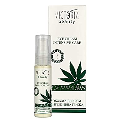 Victoria Beauty Eye Contour Cream with Hemp Seed Oil 30 ml – Intensive Anti Aging Moisturizer for a Smooth Appearance around the Eye and Bright Look of Dehydrated, Dry, Super Dry, or Itchy Skin
