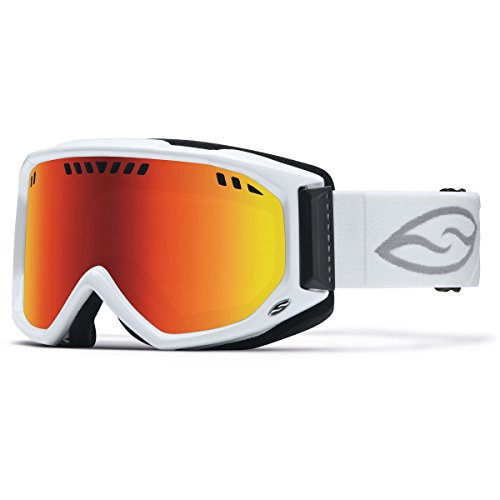 Smith Optics Scope Airflow Series Winter Sport Snowmobile Goggles Eyewear - White/Red SOL-X/One Size