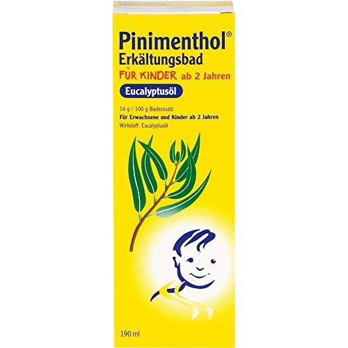 Pinimenthol Eucalyptusöl Erkältungsbad für Kinder ab 2, 190 ml Badezusatz