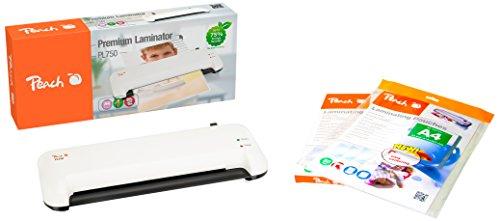 Peach Vorteils-Set PL750 Laminiergerät DIN-A4 & Starterpaket Laminierfolien 125 Stück