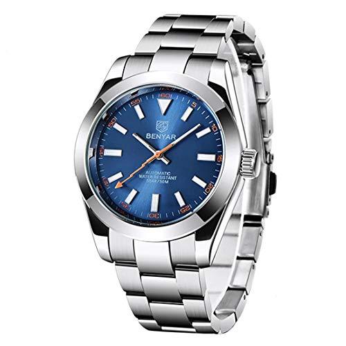BENYAR Women Men Unisex Reloj De Pulsera Luxury-Business Stainless Steel Automatic Analogous BY-5176