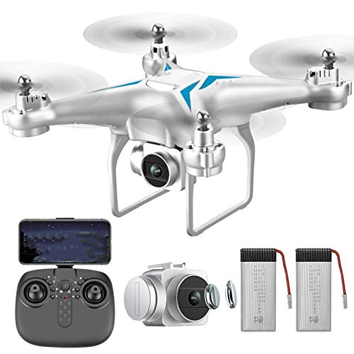 SZYM Foldable GPS Drone with 4K UHD Camera for Adults, Quadcopter with Brushless Motor, Auto Return Home, Follow Me, 50 Minutes Flight with Dual Battery