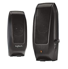 2.0 stereo speaker system Compact size that delivers high quality audio without using too much space 2.2 Watt, nominal Output Power Convenient headphone jack for private listening, built in knob for easily adjusting volume Response Bandwidth: 50Hz 20...