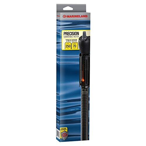MarineLand Precision Submersible Heater, for Freshwater or Saltwater Aquariums, 250-watt