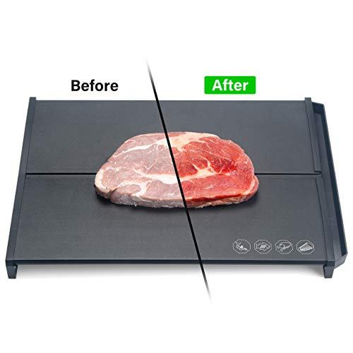 Lvssci Fast Defrosting Tray Meat Defrosting Tray, Frozen Food Thawing Plate Defrost Meat/Frozen Food Quickly, No Microwave/Electricity