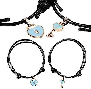 Charm Collection Friendship Bracelets, DELFINO Girls Adjustable Bracelet, Best Friend Gifts For Man + Women, Womens Cute D...