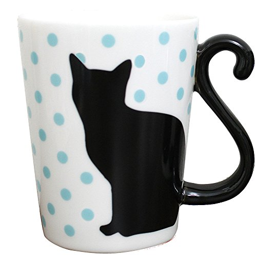 Mug Chat Noir à pois BL ar0604039