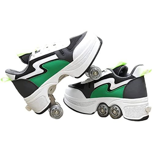 JZIYH Zapatillas con Ruedas Zapatos Ajustable Ruedas Patines Deportes Al Aire Libre Gimnasia Zapatillas De Skateboard para Niños Y Niña Zapatillas De Deporte Al Aire Libre