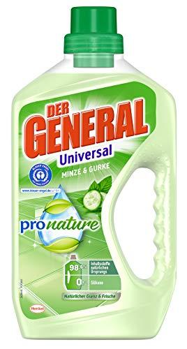 Der General Universal Pro Nature Minze und Gurke, Allzweckreiniger, 750ml, mit 98,6 Prozent naturbasierten Inhaltsstoffen