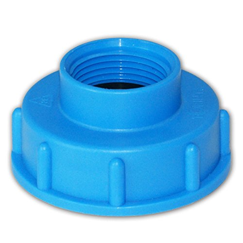 Stabilo-Sanitaer IBC Container Adapter Deckel S60x6 55/60 mm 1 Zoll Innengewinde Anschluss Zubehör für Tank/Wasserbehälter