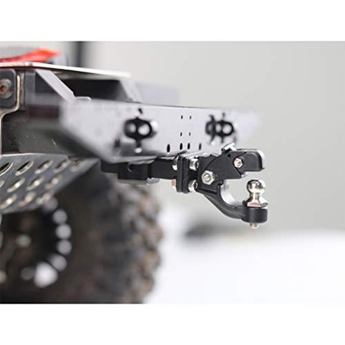 Daxoon RC aluminium trekker haak Hitch ontvanger voor 1/10 RC Traxxas TRX-4 Crawler, zwart