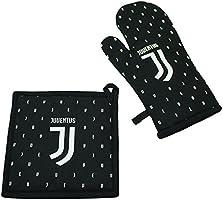 Juventus 52601002131 Set Barbecue, Cotone, Nero, 18 x 30 x 1 cm
