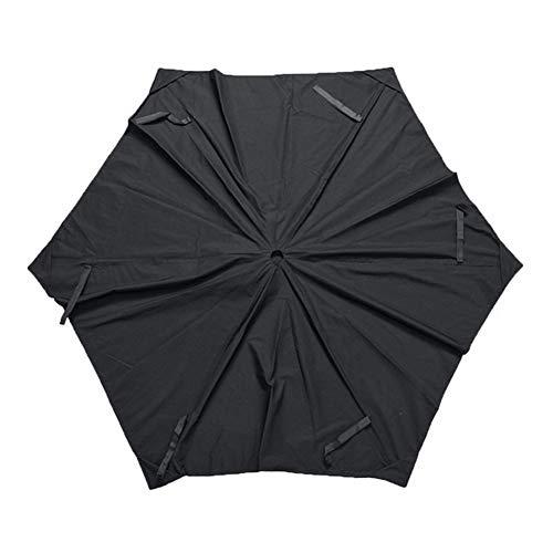 Garden Parasol Cantilever Umbrella 6.5ft Waterproof Sun Shelter Cover Parasol Top Canopy Garden Parasol Canopy Cover Garden Outdoor Replacement Fabric For Backyard, Pool Umbrella (Color : Black)