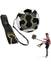 Voetbal kick trainer, voetbaltrainingshulp, Shands Solo-trainingshulp met riem en elastisch touw, perfect voor de verbetering van de voetbalvaardigheden, geschikt voor ballen maat # 3 # 4 # 5