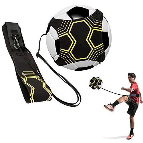 Trainer da Calcio, supporto per allenamento di allenamento con cintura e corda elastica, perfetto per migliorare le abilità calcistiche, adatto per palline di taglia 3 # 4 # 5, bambini e adulti