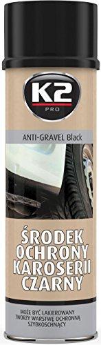 K2 Unterbodenschutz Spray, Primer, schwarz, lackierbar, Steinschlagschutz, Bitumen, Anti Dröhn, 500ml