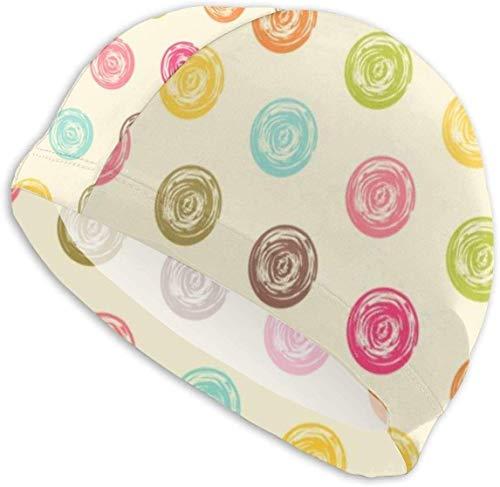 HFHY Bonnet de Bain Chapeau Couleur Transparente Grunge Pois Motif Tissu Natation Bonnet de Bain Chapeaux Bonnet de Bain Couleur Unie
