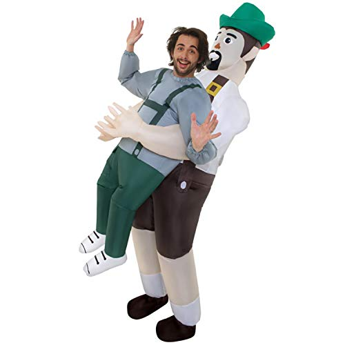 Morph MCPIBA Aufblasbares Kostüm, Unisex, Lederhosen Erwachsene, Einheitsgröße