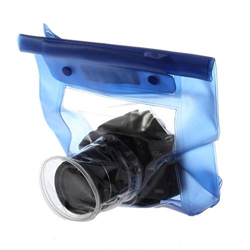 20M Impermeable DSLR SLR Bolsa de cámara Digital Caja de la Carcasa de la Carcasa submarina para Exterior Bolsa Seca para Canon para Nikon - Azul