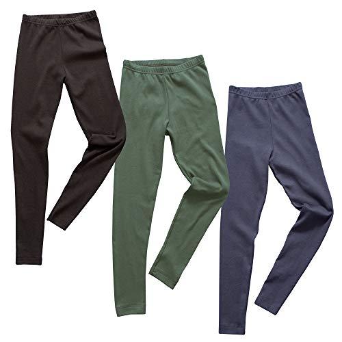 HERMKO 2720 3er Pack Kinder Legging, Größe:128, Farbe:Mix s/m/o