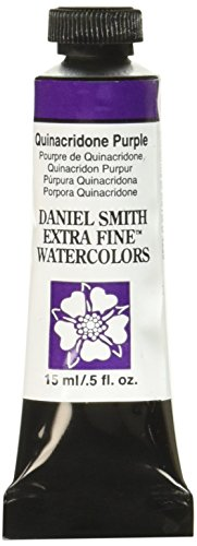 Daniel Smith 284600225 Extra Fine Watercolor 15ml Paint Tube, Quinacridone Purple