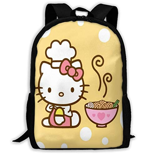 Cartoon Cute Hello Kit_ty Toddler Backpack Kids School Bag Children's Backpack Boys Travel Bag for Women Men,Size 43X28X16Cm