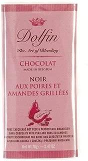 Dolfin Belgium Chocolate Bar - Dark with Pear and Almonds (2.5 ounce)