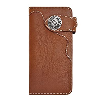 ZLYC Bifold Credit Card Case Leather Long Clutch Wallets for Women Men with ID Window