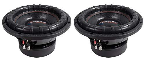 "(2) American Bass ELITE-1244 2400w 12"" Competition Car Subwoofers 3"" Voice Coils"