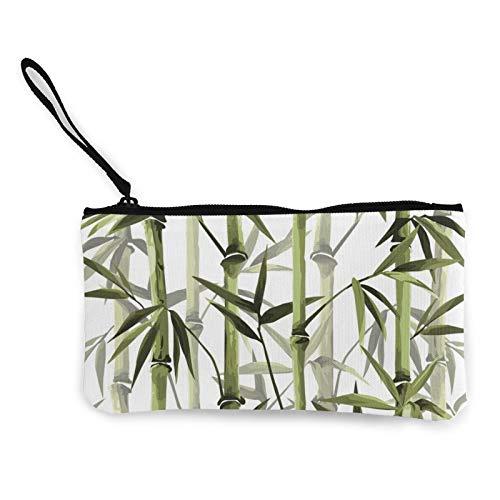 Moneda de lona, estilo chino, bolso vertical de bambú con cremallera, bolsa de cosméticos de viaje multifunción, bolsa de maquillaje para teléfono móvil, paquete de lápices con asa
