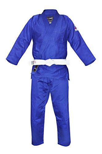 Fuji Traje para Judo de Tejido Sencillo, Azul Azul 4