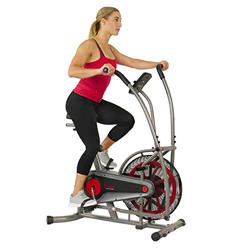 Sunny Health & Fitness Motion Air Bike, Fan Exercise Bike with Unlimited Resistance and Tablet Holder - SF-B2916,Black