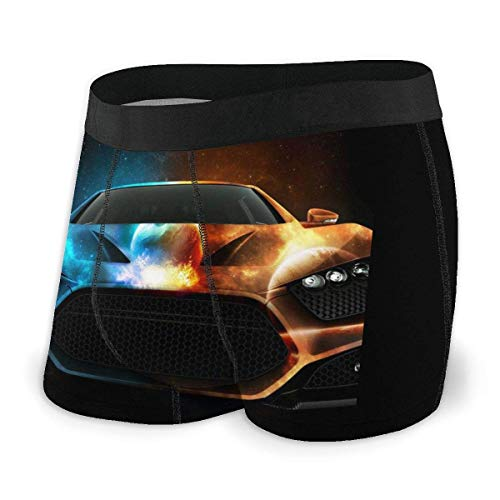 Yuanmeiju Mens Boxer Shorts Fitted Bragas Super Car Trunks Quick Dry Ropa Interior