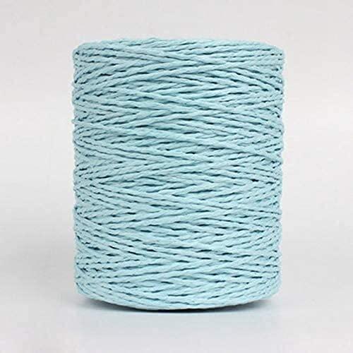 500 g Raya Raffia Hilado de Paja Crochet para Bricolaje Punto de Verano Hat Bolsos Material Material Cojines de Mano Cestas (Color : Sky Blue)