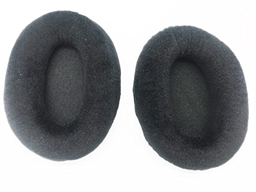 Replacement Thicker Cushion Ear Pads earpads Cups Cover Pillow for Kingston HyperX Cloud II KHX-HSCP-GM KHX-HSCP-RD pro Gaming Headphones (Velour Black with Black Cloth)